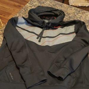 Mens Nike Black Chevron design Hoodie